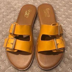 Franco Sarto Buckle Slide Sandals